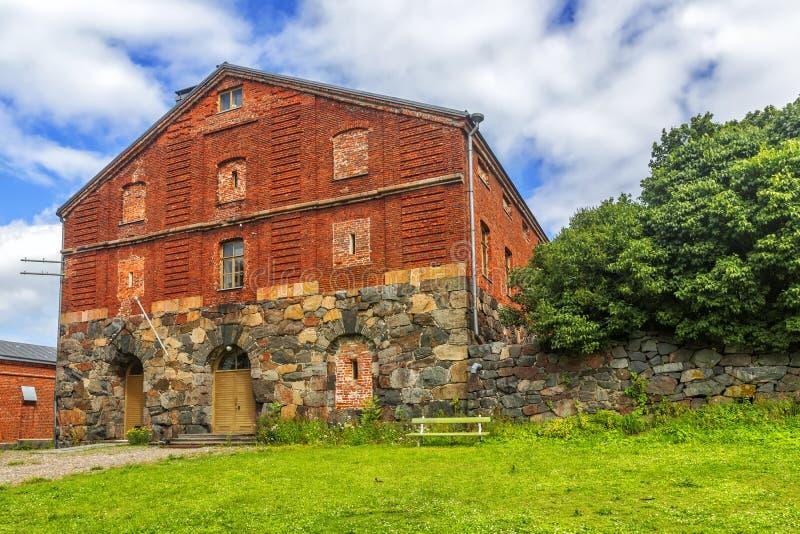 Fortaleza de Suomenlinna ou de Sveaborg helsínquia finland imagem de stock