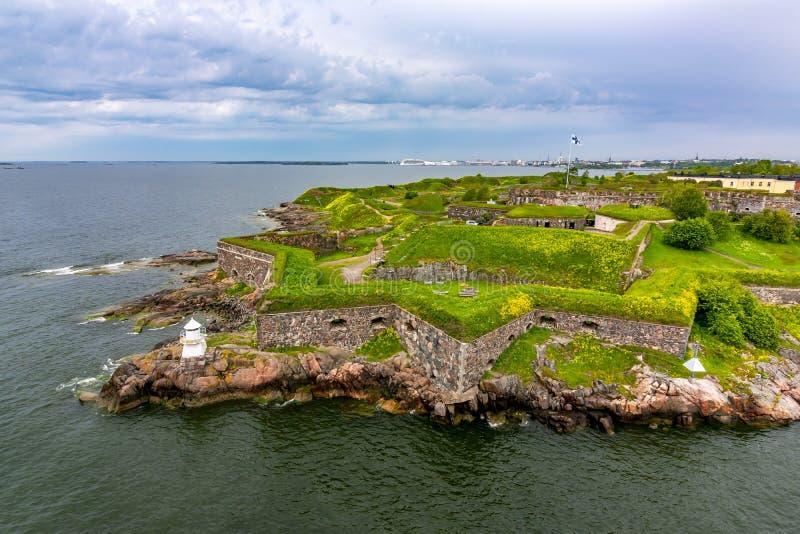 Fortaleza de Suomenlinna perto de Helsínquia, Finlandia imagem de stock