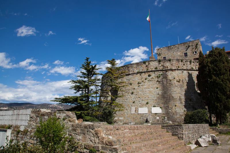 Fortaleza de Trieste imagens de stock royalty free