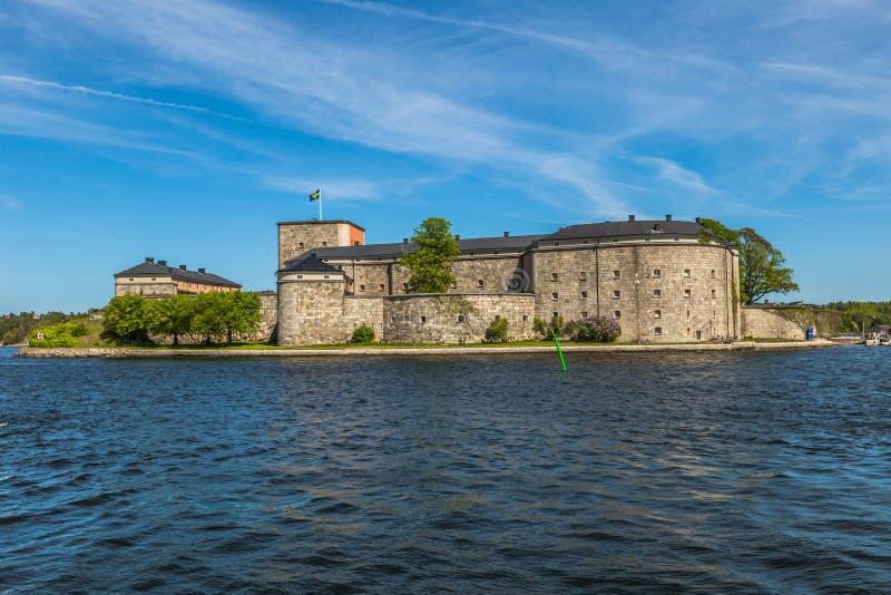 Fortaleza de Vaxholm, Suécia fotos de stock