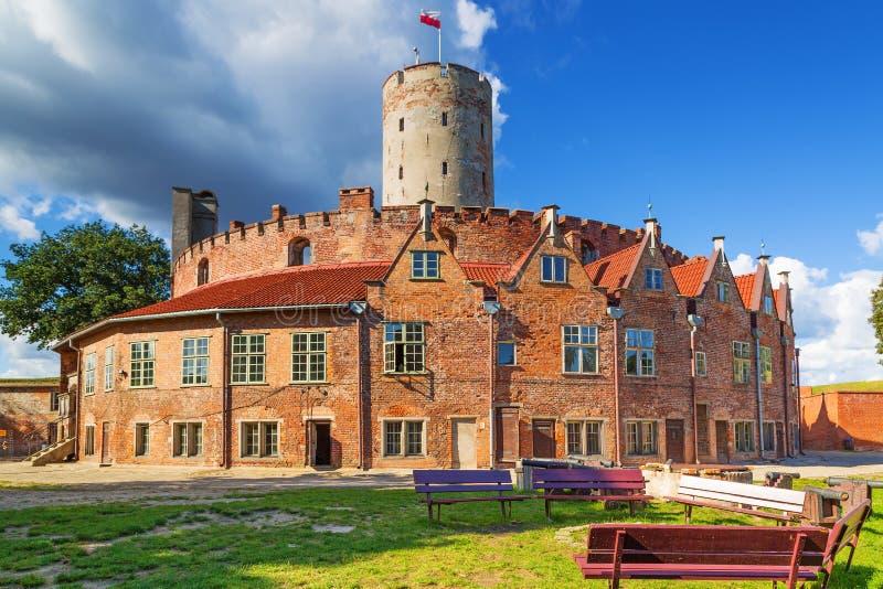 Fortaleza de Wisloujscie em Gdansk foto de stock royalty free
