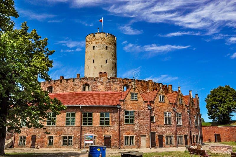 Fortaleza de Wisloujscie, Gdansk, Polônia foto de stock