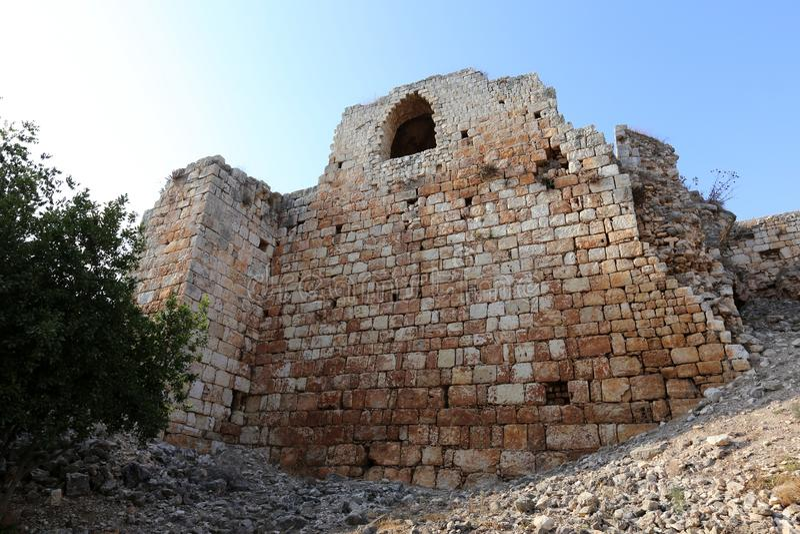 A fortaleza de Yeghiam é o castelo da era do cruzado imagens de stock royalty free