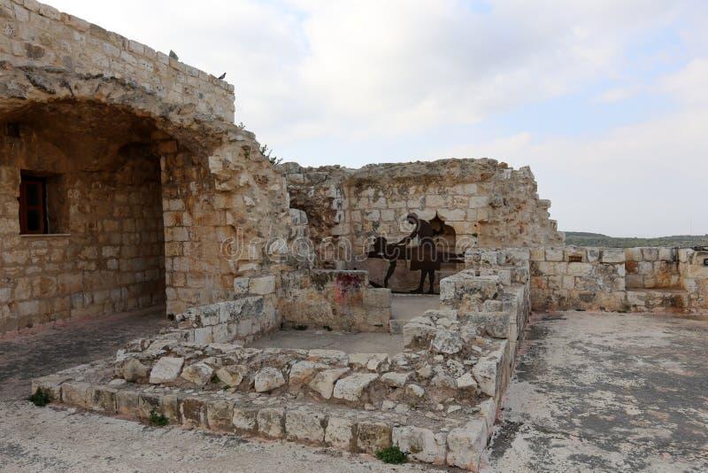 A fortaleza de Yeghiam é o castelo da era do cruzado foto de stock royalty free