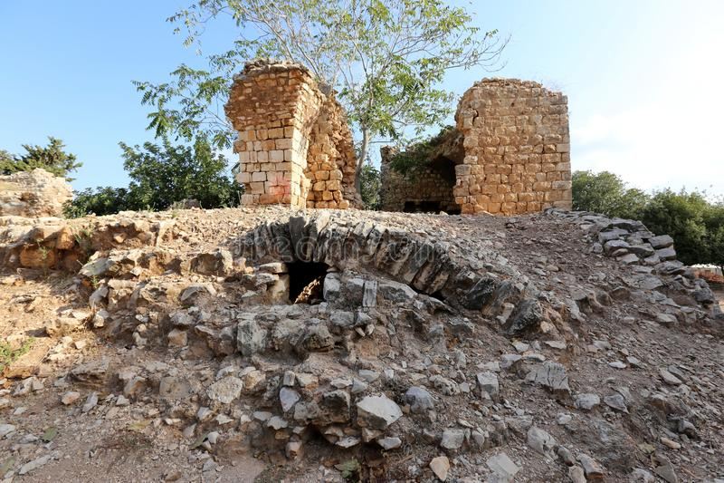 A fortaleza de Yeghiam é o castelo da era do cruzado fotografia de stock royalty free