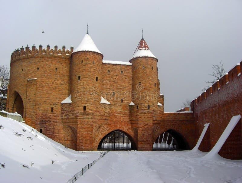 Fortaleza defensiva em Varsóvia, Polônia imagem de stock