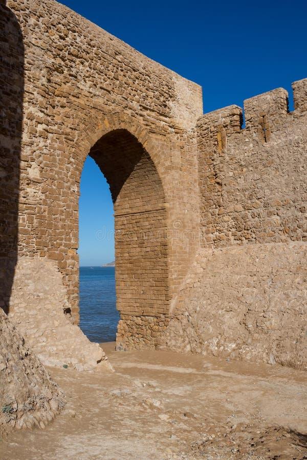 Fortaleza del castillo en Safi, Marruecos imagenes de archivo