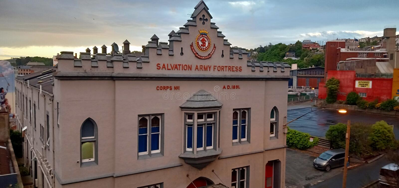 Fortaleza del Ejército de Salvamento foto de archivo