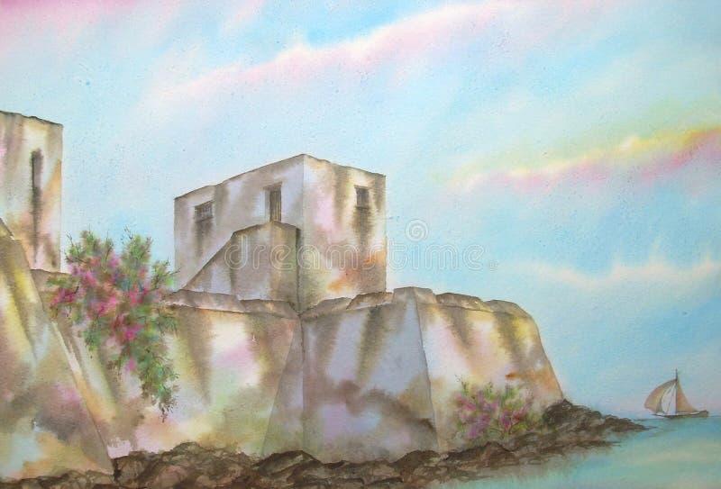 Fortaleza do Cararibe mexicana ilustração royalty free