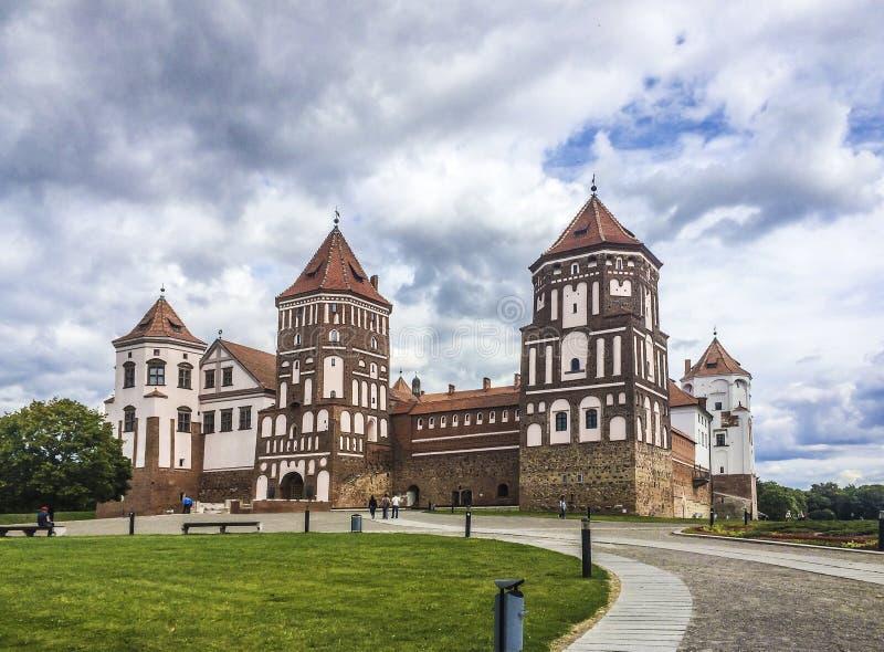 Fortaleza do castelo em Bielorrússia fotos de stock royalty free