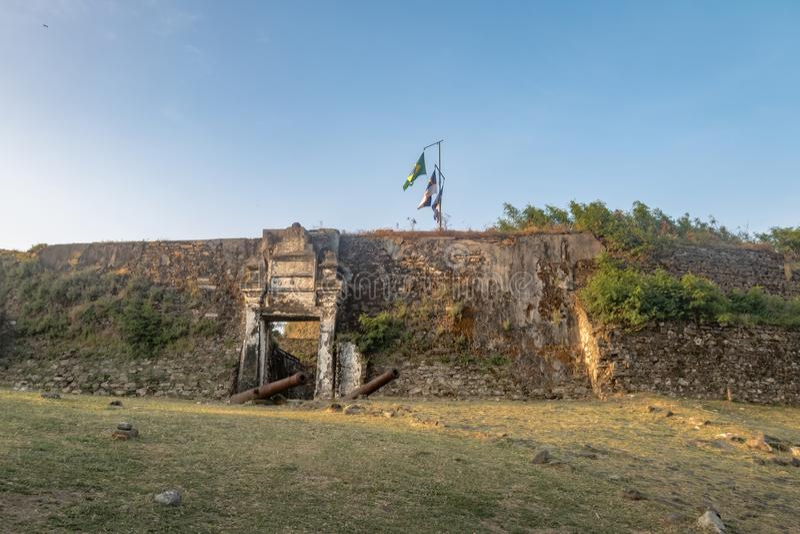 Fortaleza do dos Remedios de Nossa Senhora - Fernando de Noronha, Pernambuco, Brasil imagem de stock royalty free