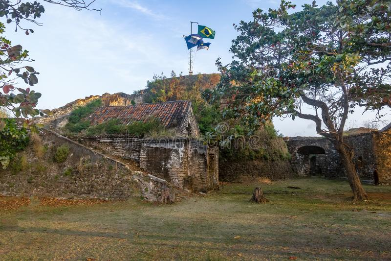 Fortaleza do dos Remedios de Nossa Senhora - Fernando de Noronha, Pernambuco, Brasil foto de stock