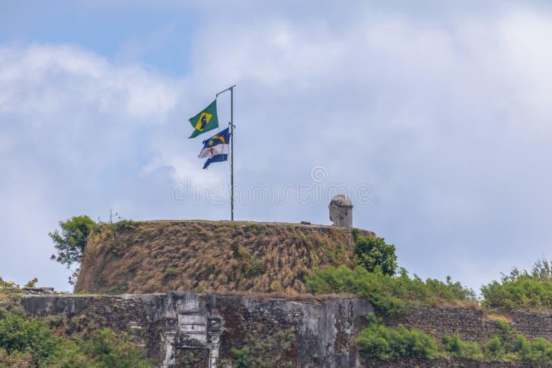 Fortaleza do dos Remedios de Nossa Senhora - Fernando de Noronha, Pernambuco, Brasil foto de stock royalty free