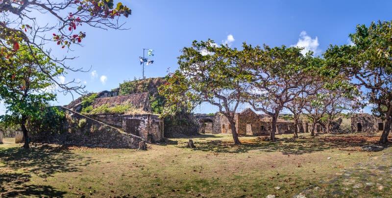 Fortaleza do dos Remedios de Nossa Senhora - Fernando de Noronha, Pernambuco, Brasil imagens de stock