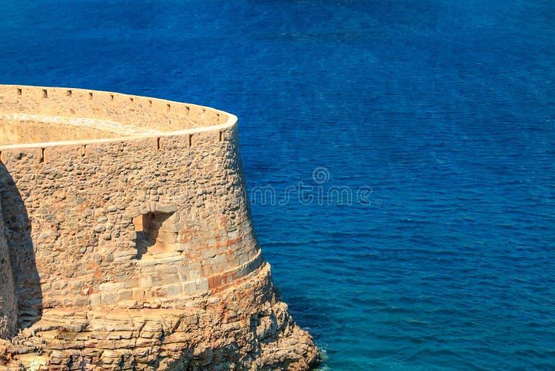 Fortaleza do forte de Spinalonga fotografia de stock royalty free