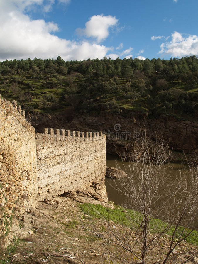 Fortaleza do rio imagem de stock