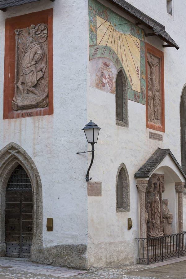 Fortaleza do século XI de Hohensalzburg, Áustria, Salzburg foto de stock