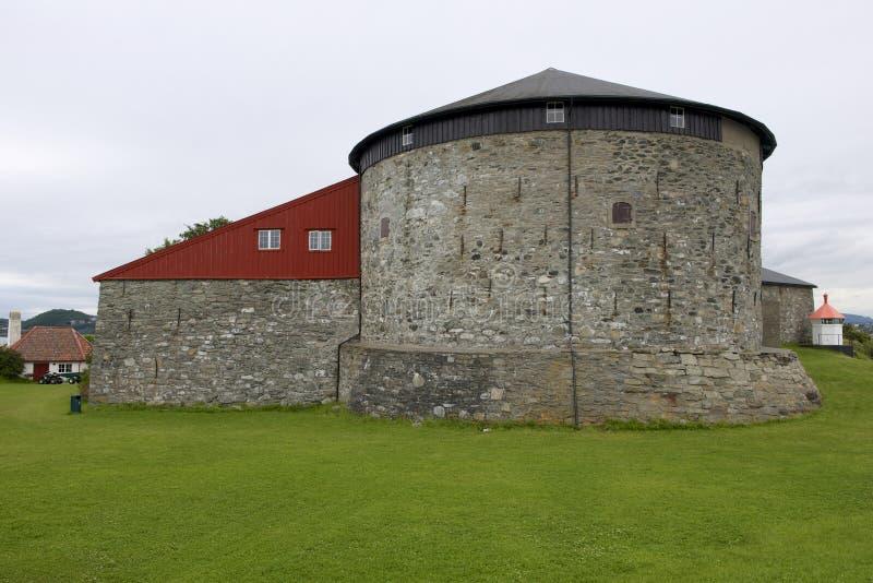 Fortaleza e prisão da ilha de Munkholmen exteriores em Trondheim, Noruega foto de stock royalty free