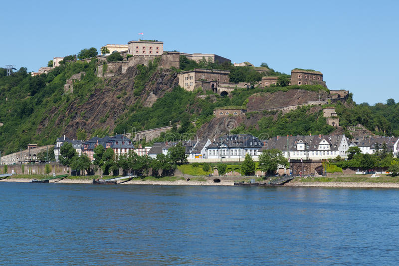 Fortaleza Ehrenbreitstein imagen de archivo