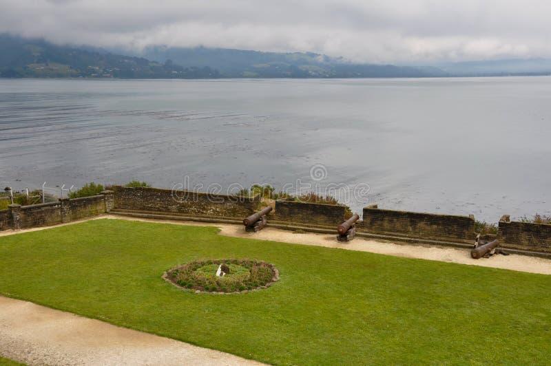 Fortaleza em Ancud, ilha de Chiloe, o Chile imagens de stock