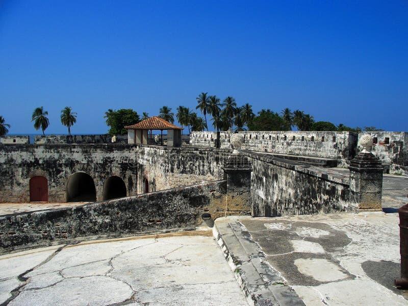 Fortaleza em Cartagena Colômbia imagem de stock
