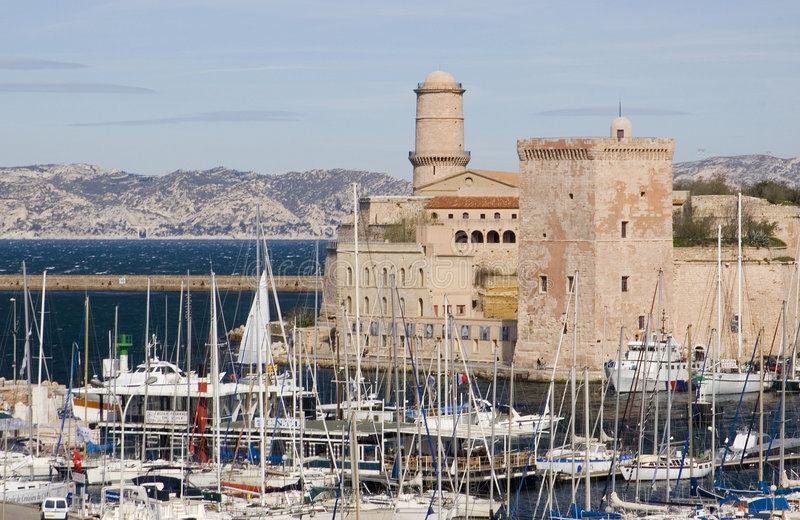 Fortaleza em Marselha fotografia de stock royalty free