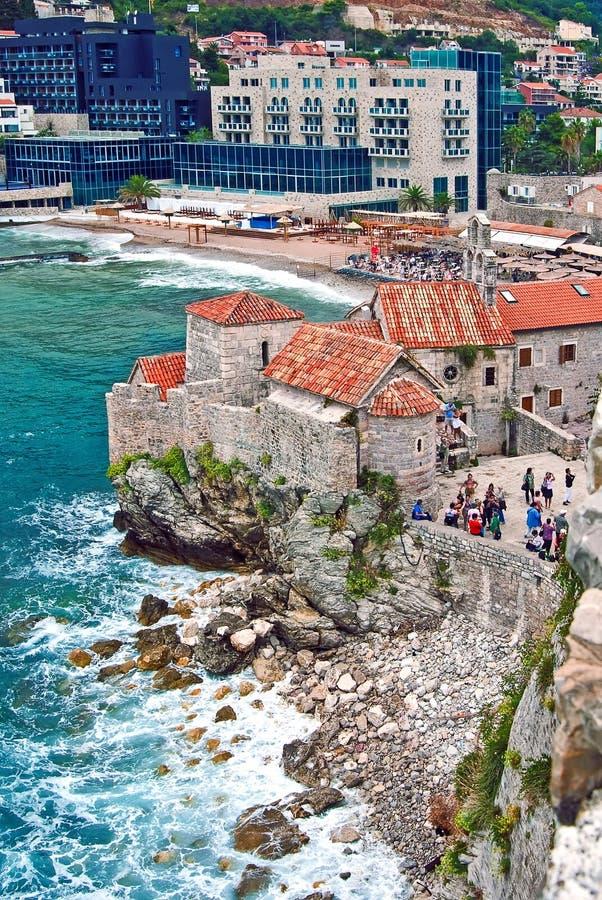 Fortaleza en Budva, Montenegro fotografía de archivo