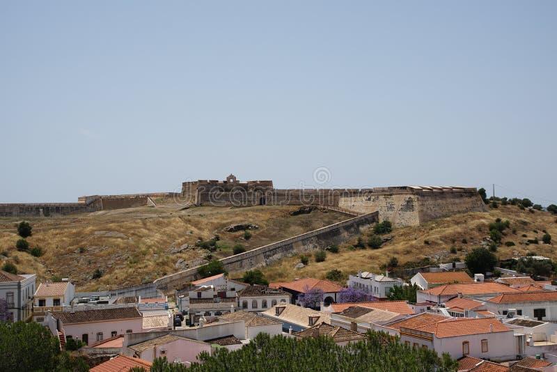 Fortaleza en Castro Marim en Portugal imágenes de archivo libres de regalías