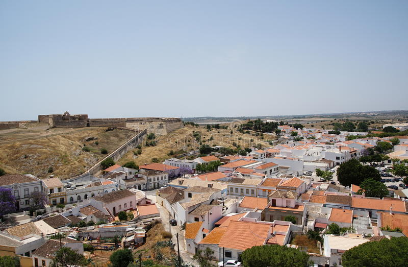 Fortaleza en Castro Marim en Portugal fotos de archivo