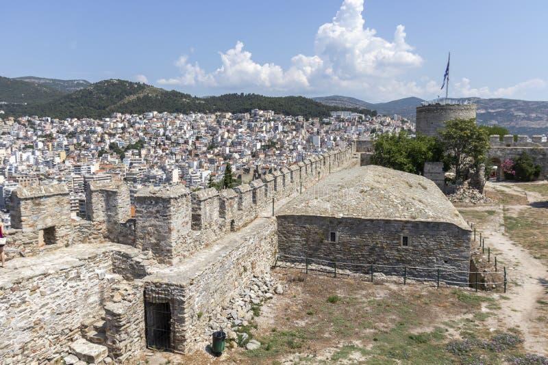 Fortaleza en la ciudad de Kavala, Grecia imágenes de archivo libres de regalías