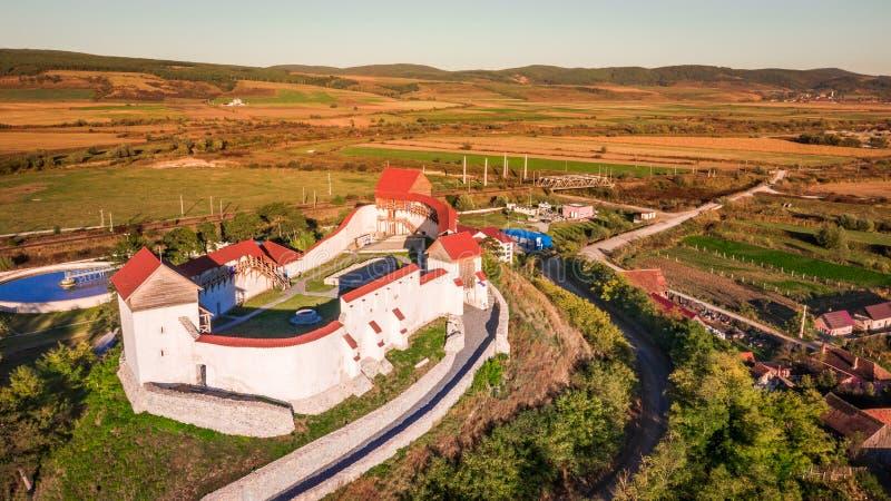 Fortaleza Feldioara, Transilvania, Rumania foto de archivo libre de regalías