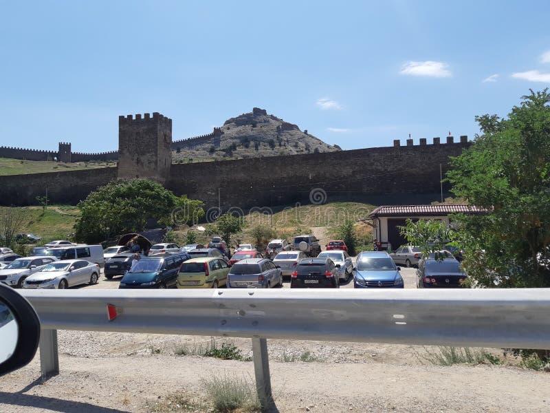 Fortaleza Genoese afuera imagen de archivo libre de regalías