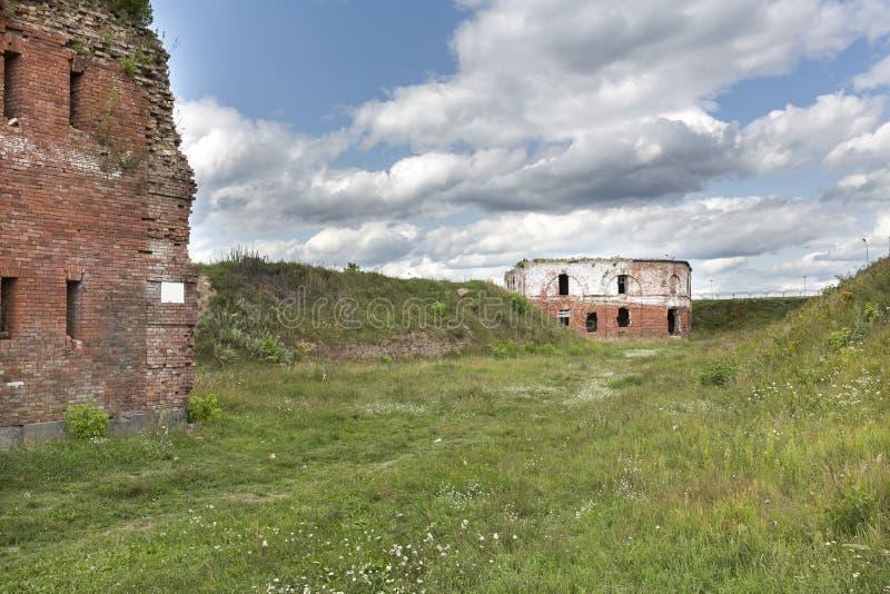 Fortaleza histórica de Bobruisk en Bielorrusia foto de archivo