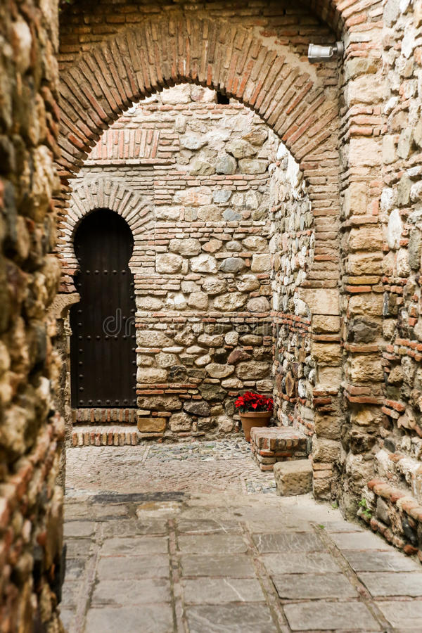 Fortaleza interior de Alcazaba foto de archivo libre de regalías