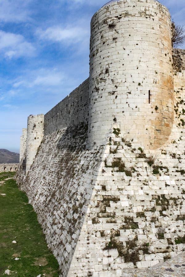 Fortaleza interna, Chevaliers del DES de Krak fotos de archivo libres de regalías