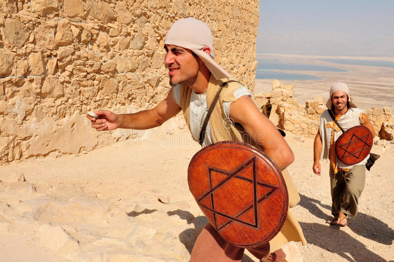 Fortaleza Israel de Masada fotos de stock