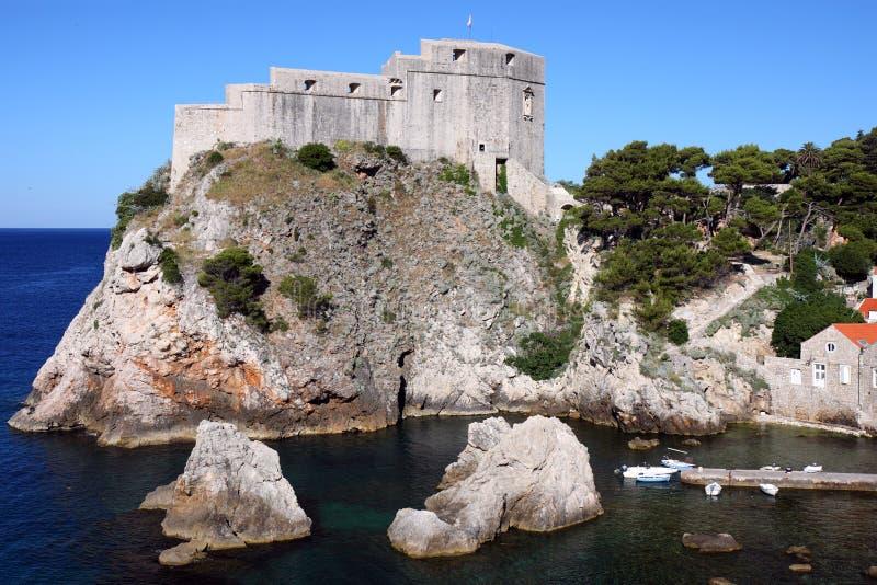 Fortaleza Lovrjenac en Dubrovnik, Croatia fotografía de archivo libre de regalías