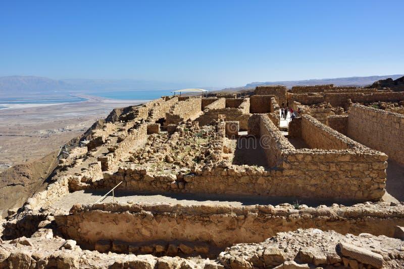 Fortaleza Masada, Israel fotografia de stock