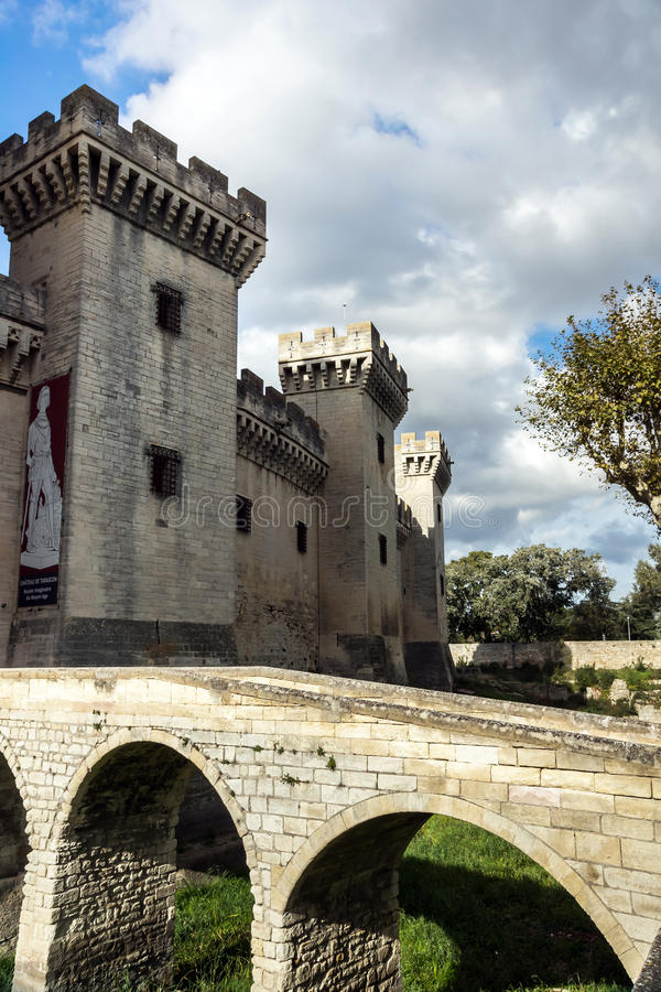 Fortaleza medieval da rainha em Tarascon, France. fotos de stock royalty free
