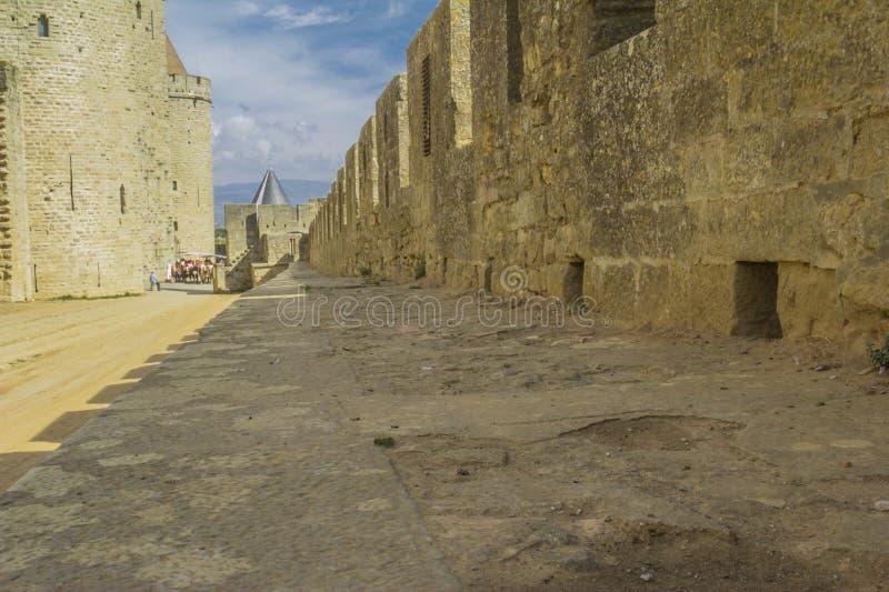 A fortaleza medieval de Carcassonne imagem de stock royalty free