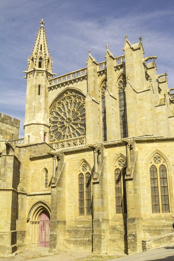 A fortaleza medieval de Carcassonne imagem de stock