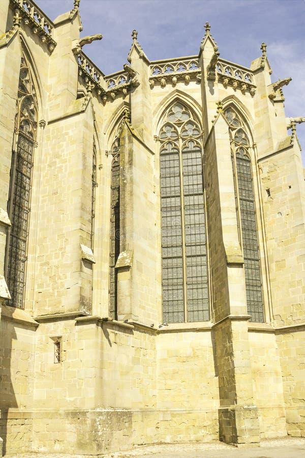 A fortaleza medieval de Carcassonne fotografia de stock