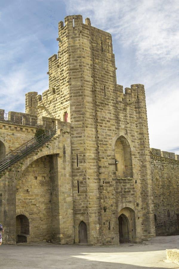 A fortaleza medieval de Carcassonne imagens de stock royalty free