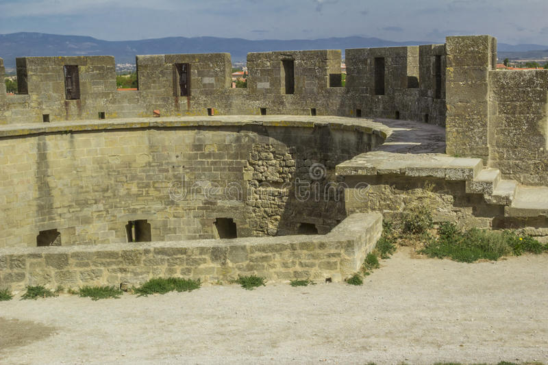A fortaleza medieval de Carcassonne fotografia de stock royalty free