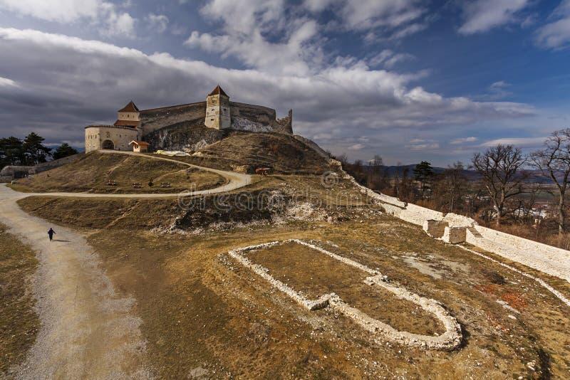 Fortaleza medieval de Rasnov, condado de Brasov, Romênia fotografia de stock royalty free