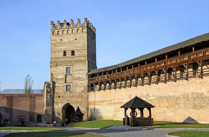 Fortaleza medieval em Lutsk, Ucrânia foto de stock