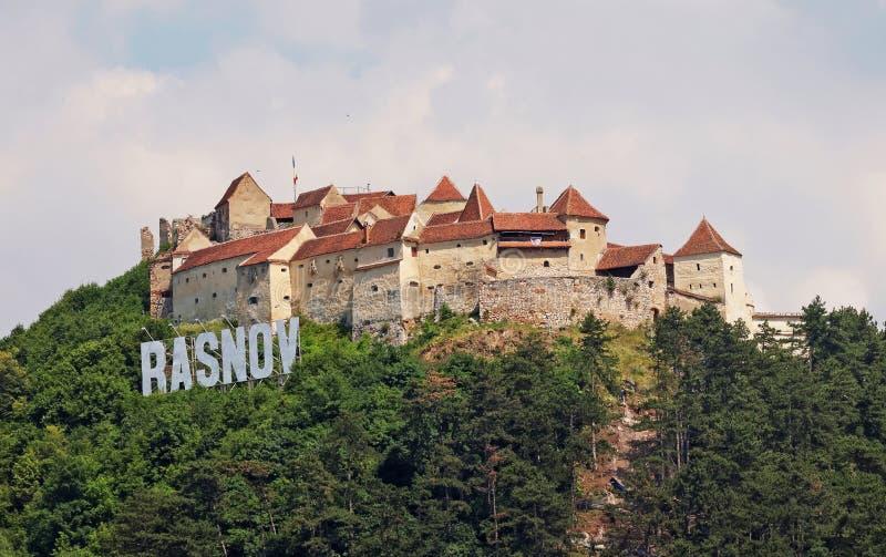 Fortaleza medieval em Rasnov, Romênia foto de stock royalty free