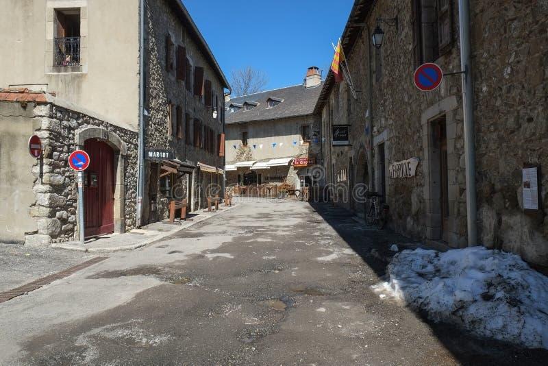 Fortaleza medieval en Mont Louis, Francia fotos de archivo