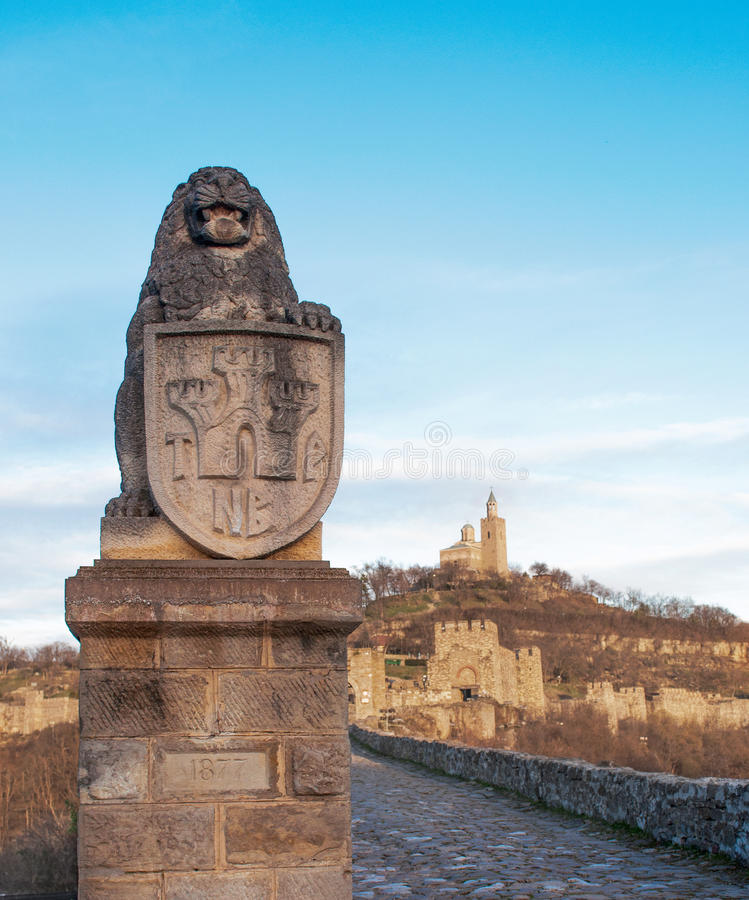 Fortaleza medieval A fortaleza de Tsarevets foto de stock royalty free