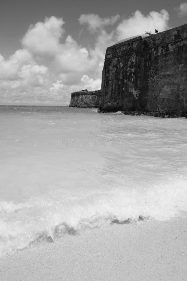 Fortaleza naval Bermuda do estaleiro fotografia de stock